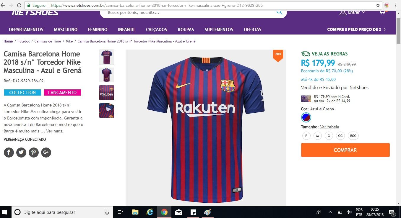 Dica de presente para o Dia dos Pais  camisa do Barcelona ou do Real Madrid  com desconto! – Análise de camisas f09466d61cac9