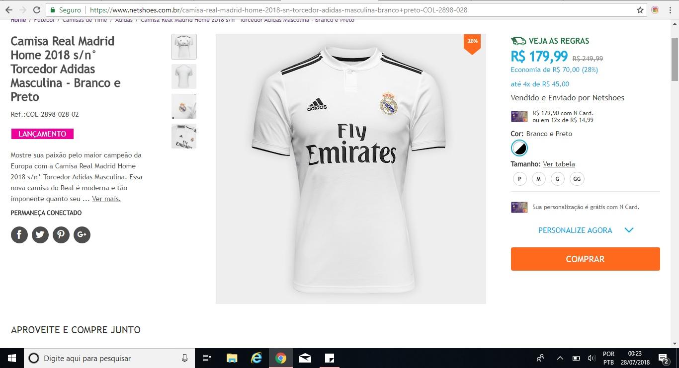 Dica de presente para o Dia dos Pais  camisa do Barcelona ou do Real Madrid  com desconto! – Análise de camisas 2137c9a8a3299
