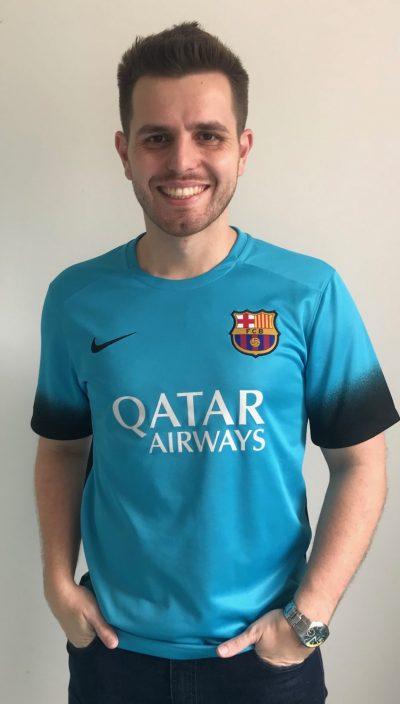 """A 20ª camisa da série """"Minhas Camisas"""" é mais uma peça do Barcelona. Esta  ganhei no Natal de 2015 257ebd79bc2"""