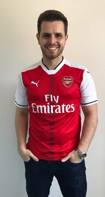 A 41ª camisa da série Minhas Camisas é a Arsenal 9c6d89ec923e5
